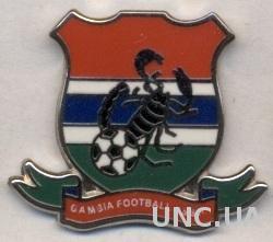Гамбия, федерация футбола,№3 ЭМАЛЬ / Gambia football federation enamel pin badge