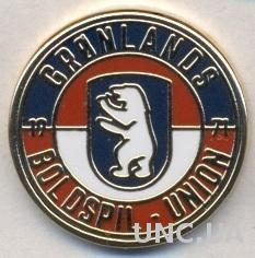 Гренландия,федерация футбола (не-ФИФА)2 ЭМАЛЬ /Greenland football federation pin