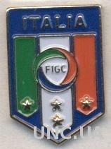 Италия, федерация футбола,№2 тяжмет / Italy calcio football federation pin badge