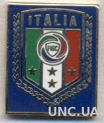 Италия, федерация футбола, №5 ЭМАЛЬ / Italy football federation enamel pin badge
