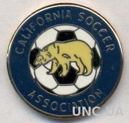 Калифорния(США) федер.футбола,ЭМАЛЬ /California,USA soccer association pin badge