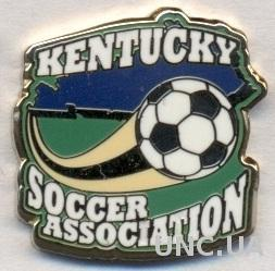 Кентукки(США),федерация футбола,ЭМАЛЬ /Kentucky,USA soccer association pin badge