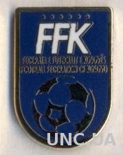 Косово, федерация футбола,№4 ЭМАЛЬ / Kosovo football federation enamel pin badge