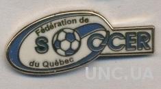 Квебек, федерация футбола (не-ФИФА)1 ЭМАЛЬ /Quebec football federation pin badge