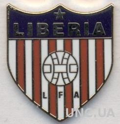 Либерия, федерация футбола, ЭМАЛЬ / Liberia football federation enamel pin badge