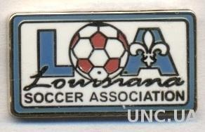 Луизиана (США) федер.футбола, ЭМАЛЬ / Louisiana,USA soccer association pin badge