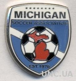 Мичиган (США),федерация футбола,ЭМАЛЬ /Michigan,USA soccer association pin badge