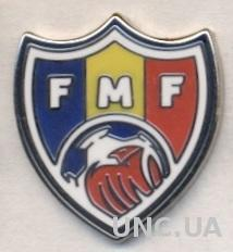 Молдова,федерация футбола,№5 ЭМАЛЬ /Moldova football federation enamel pin badge