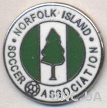 О-в Норфолк,федер.футбола (не-ФИФА) ЭМАЛЬ /Norfolk football federation pin badge