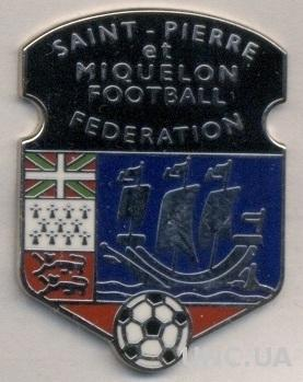 Сен-Пьер&М, федер.футбола (не-ФИФА) ЭМАЛЬ /St.Pierre&Miquelon football feder.pin