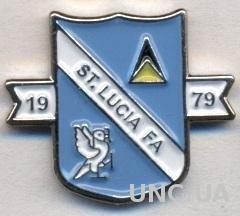 Сент-Люсия, федерация футбола,№2 тяжмет /St. Lucia football federation pin badge