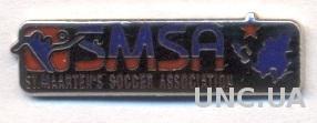 Синт-Мартен, федерация футбола, №4, ЭМАЛЬ / Sint Maarten football federation pin