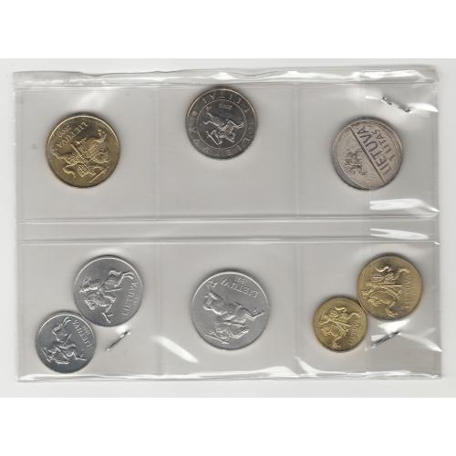 монети Литва 8 шт.  Lietuva