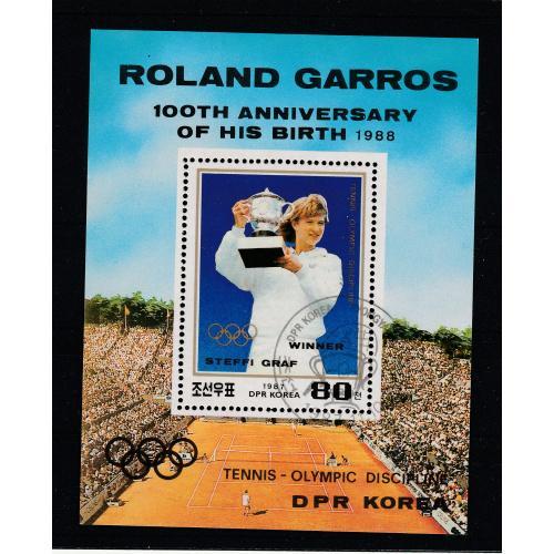 Північна Корея, Спорт, 1987 DPR Korea Roland Garros-Winner-Steffi Graff-Olympic discipline,Sc2706