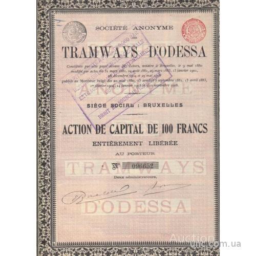 АКЦИЯ. ТРАМВАЙ ОДЕССА. 1908   2