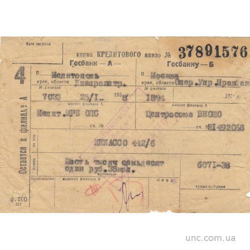 БАНК МЕЛИТОПОЛЬ. 1938