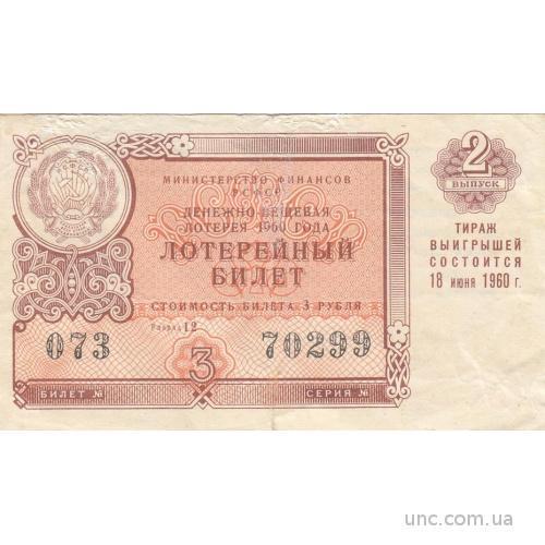 ЛОТЕРЕЙНЫЙ БИЛЕТ. 1960