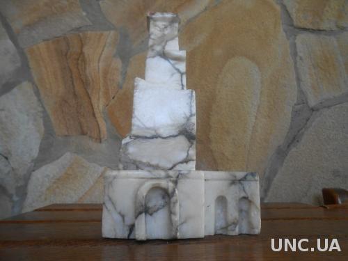 Мраморная Статуэтка камень Русская печь старая СССР из двух частей в отличном состоянии