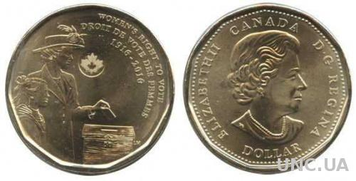 Канада - Canada 2016 г. $1 доллар UNCIRCULATED