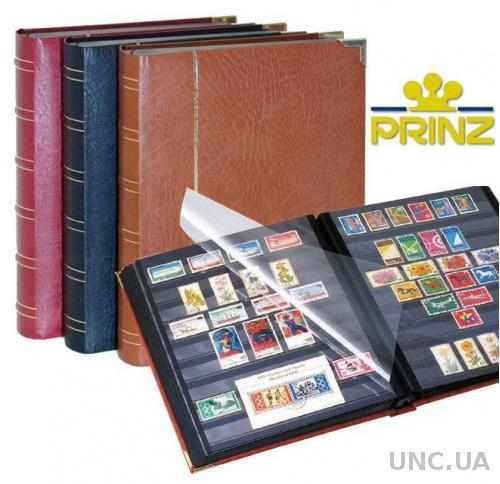 Кожаный альбом для марок - кляссер PRINZ Royal - 60 страниц