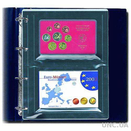 Лист А4 для годовых наборов монет, монет в слабах