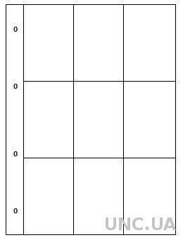 Лист для календариков, карточек - 9 ячеек - SAFE