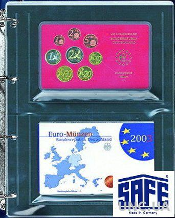 Лист для монет - для годовых наборов в фабричной упаковке, монет в слабах - SAFE