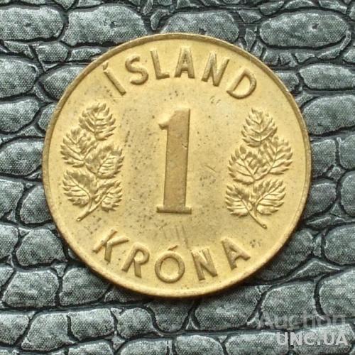 Исландия 1 крона 1974