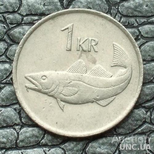 Исландия 1 крона 1984
