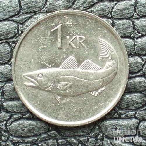 Исландия 1 крона 1987