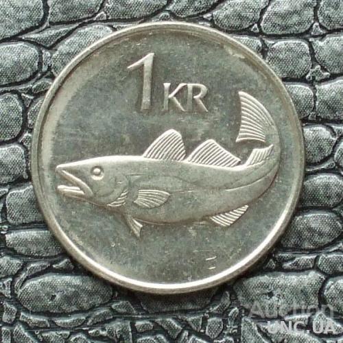 Исландия 1 крона 1989