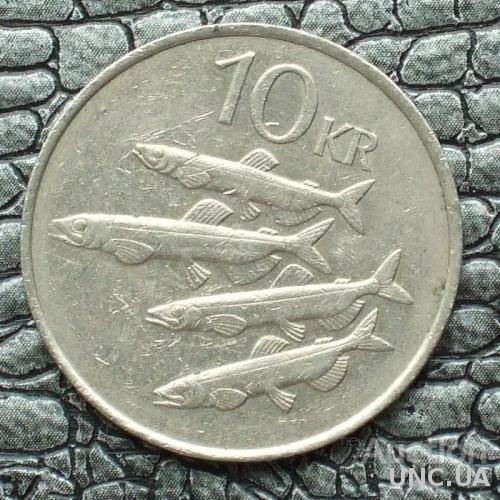 Исландия 10 крона 1984