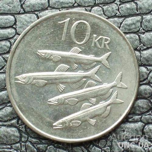 Исландия 10 крона 2008