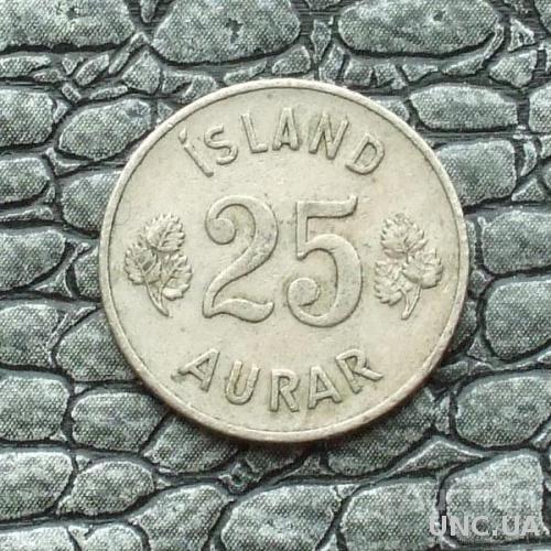 Исландия 25 эйре 1951