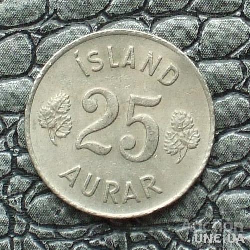 Исландия 25 эйре 1965