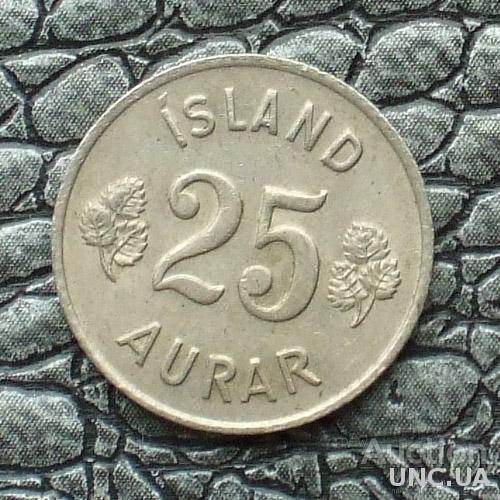 Исландия 25 эйре 1966