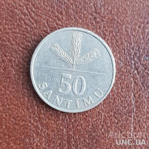 Латвия 50 сантимов 1992