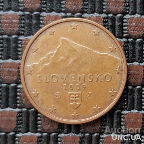 Словакия 5 евроцентов 2009