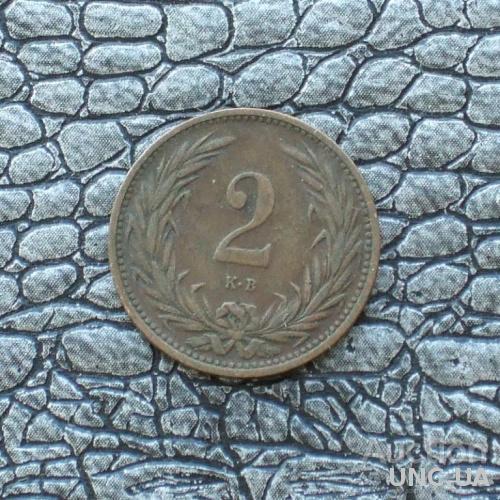 Венгрия 2 филлера 1907