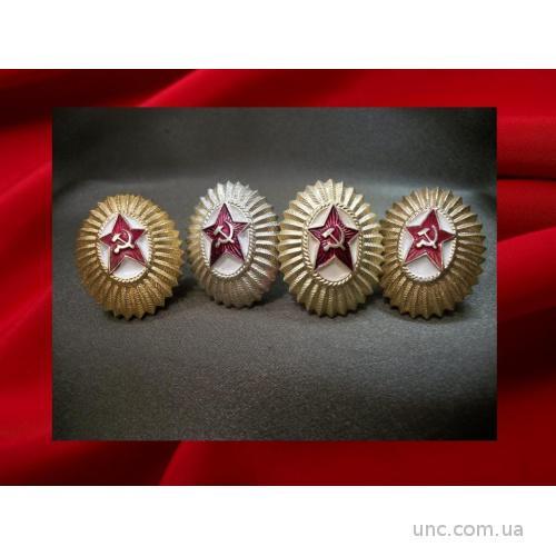 1019 Кокарда офицерская ВС СССР, 4 штуки, легкий металл.
