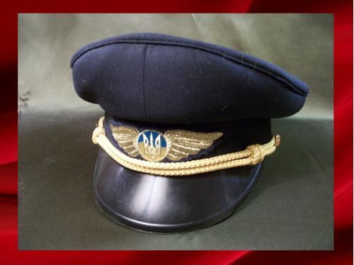 1113 Фуражка, летчик, гражданская авиация, Украина, 57-й размер