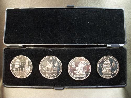 1130 Набор медалей 250 лет Америки. ММД, в коробке