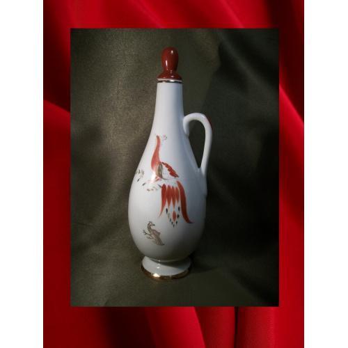 1747 Штоф, графин, ЛФЗ, жар птица.