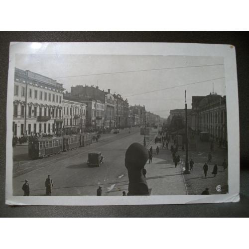 1855 Открытка, почтовая карточка, Ленинград, проспект 25 лет Октября, довоенное фото.