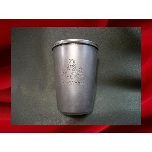 258 Рюмка, стопка, серебро, 875 проба, 53,2 гр, клеймо ТФ9, высота 6,7 см.
