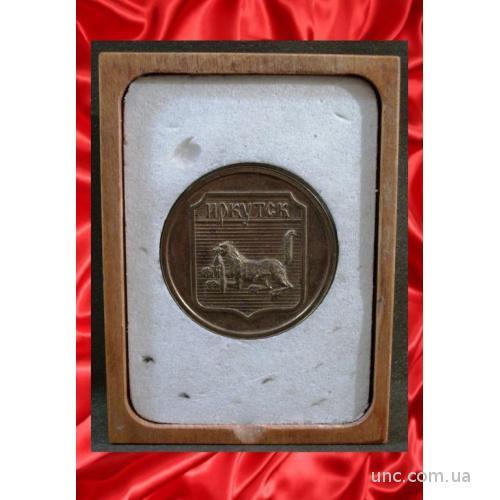 701 Герб Иркутск, Байкал, коробка, диаметр 4,9 см.