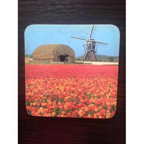 Бирдекель. Мельница в тюльпанном поле. Деревянный.