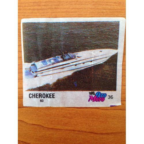 Cherokee 60. Вкладыш от жвачки OTO MOTO 36