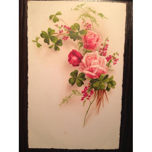 Французская открытка. Розы.