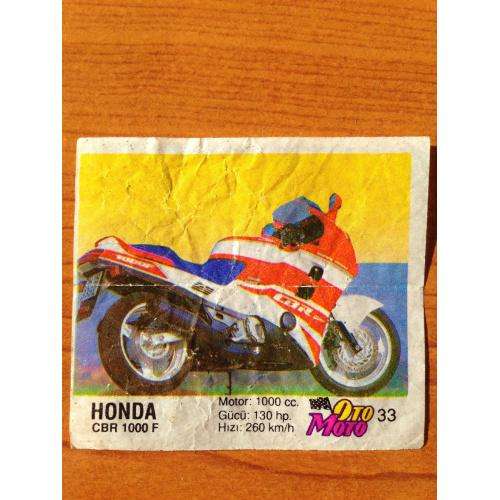 Honda CBR 1000 F.  Вкладыш от жвачки OTO MOTO 33